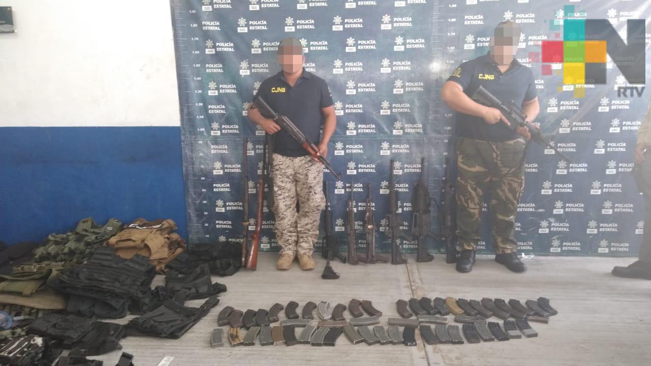 Detienen a dos presuntos integrantes del CJNG, en Tierra Blanca