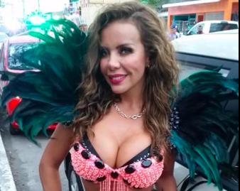 Liliana Lago en el primer papaqui de Carnaval de Veracruz