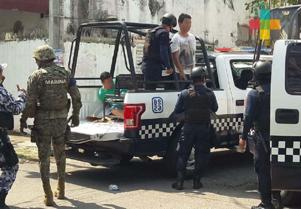 Detienen a presuntos asaltantes de casas de empeño en Veracruz
