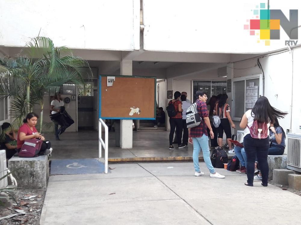 Se reanudan clases en Facultad de Ingeniería de la UV campus Boca del Río
