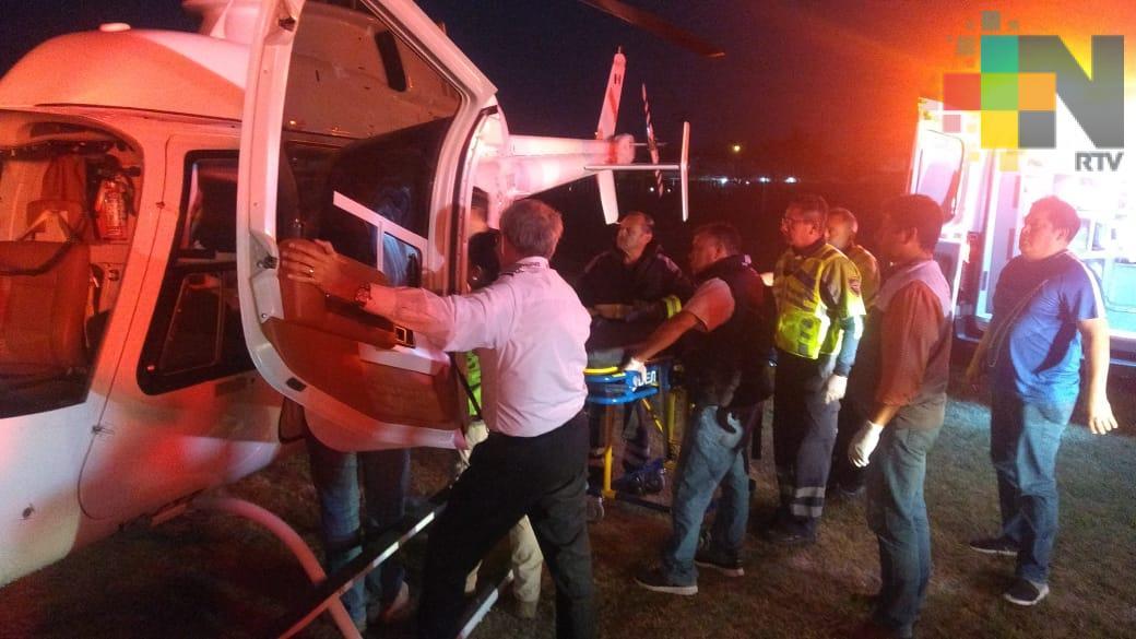 Llega al puerto de Veracruz niña lesionada con arma de fuego en San Andrés Tuxtla