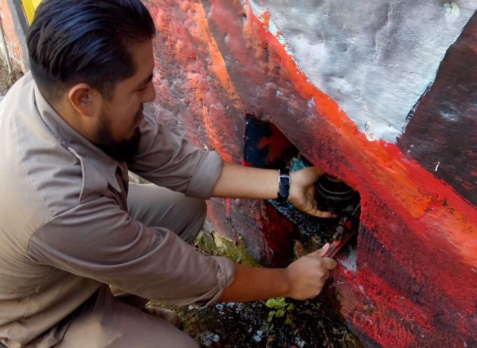 Reparada fuga de agua en calle Aldama