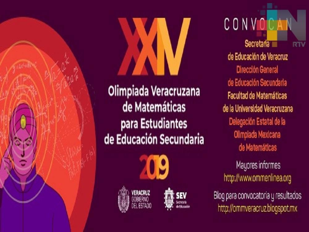 Convoca SEV a la XXIV Olimpiada Veracruzana de Matemáticas 2019