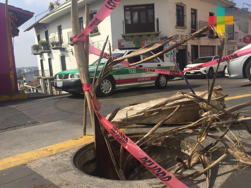 Coladera destapada en Allende esquina con JJ Herrera