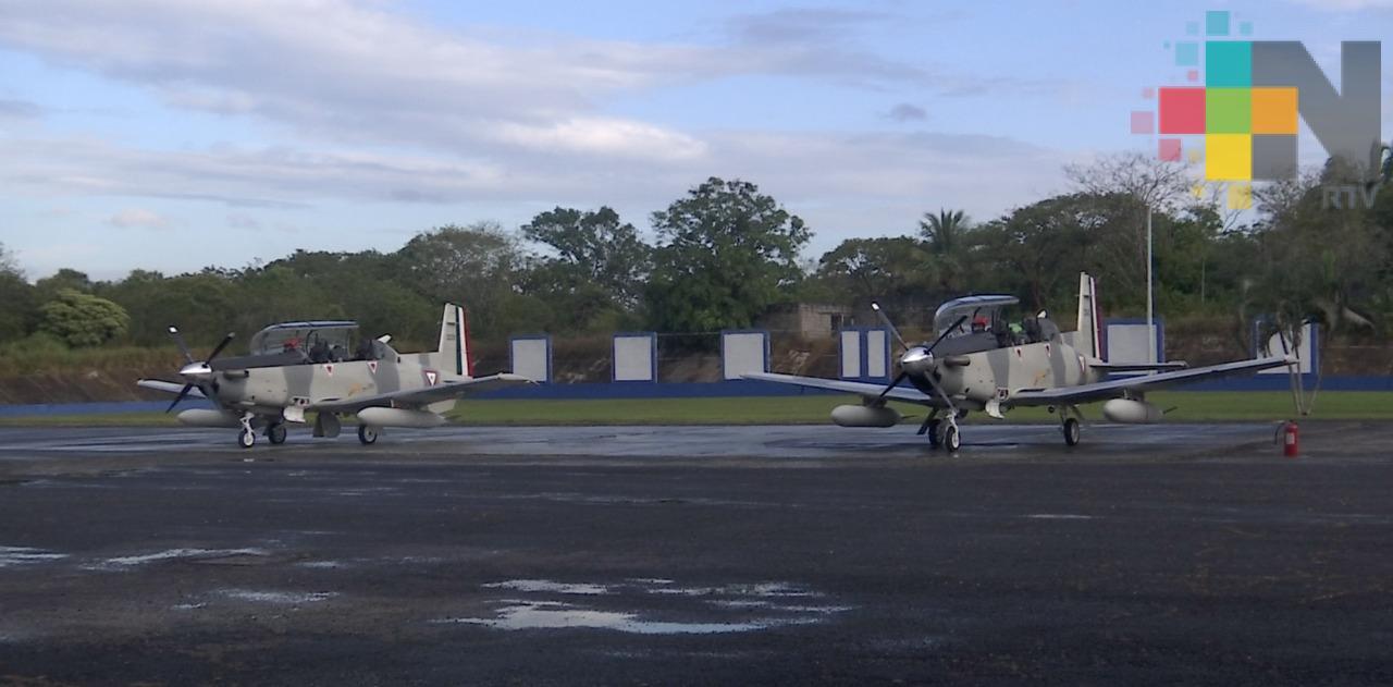 En el sur de Veracruz conmemoraron el 104 aniversario de la Fuerza Aérea Mexicana