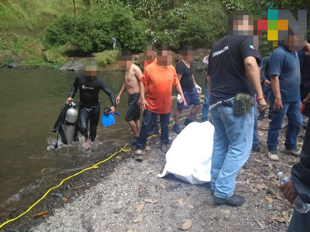 Rescata Fuerza Civil cuerpo de joven ahogado, en Teocelo