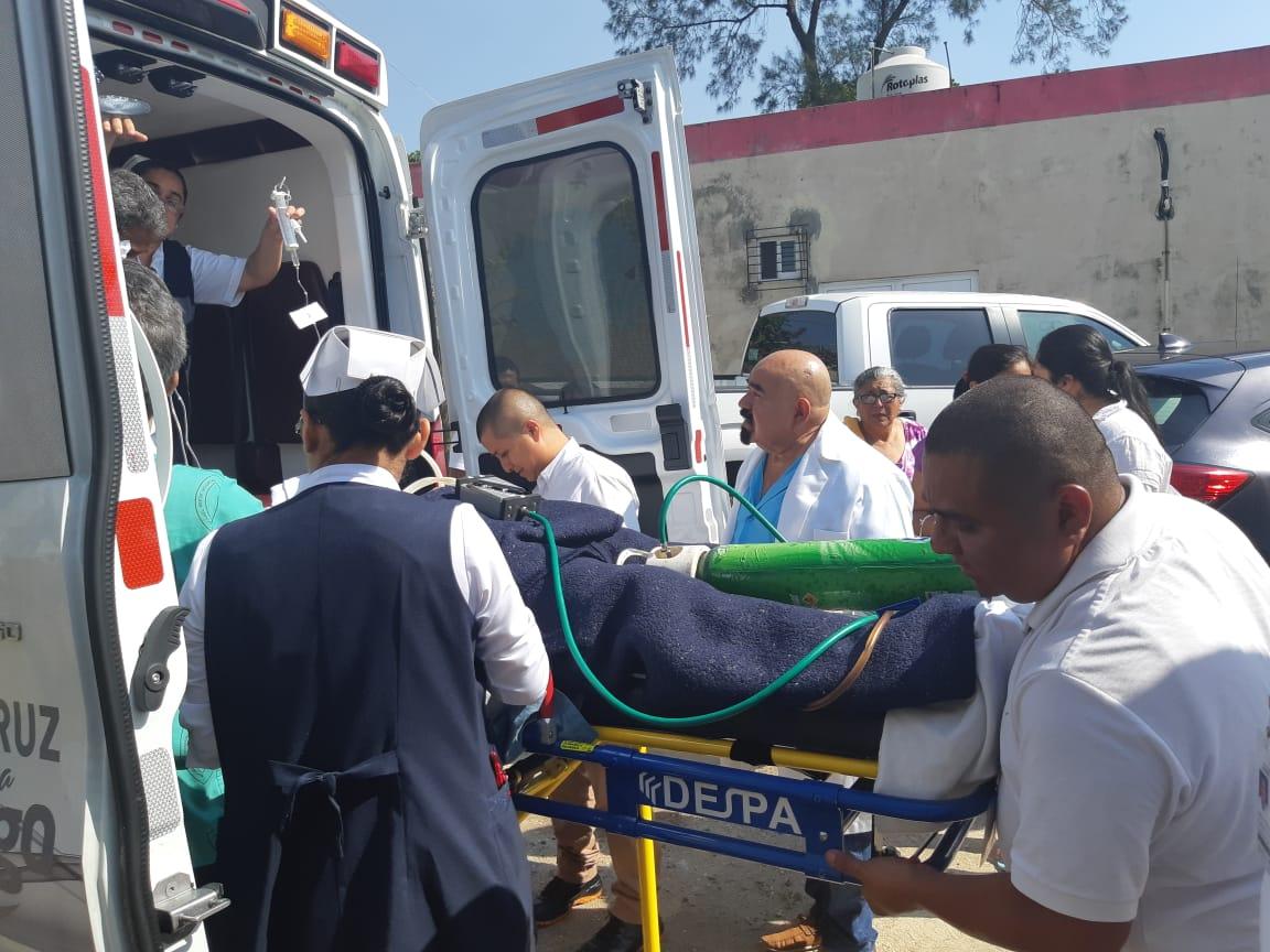 Trasladan a hospital de Veracruz a víctima de intento de homicidio