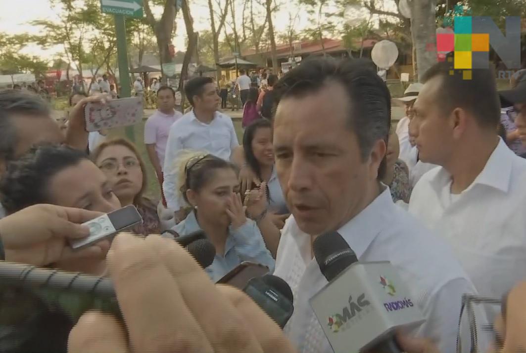 Confirmó el gobernador la visita del presidente López Obrador al norte de Veracruz