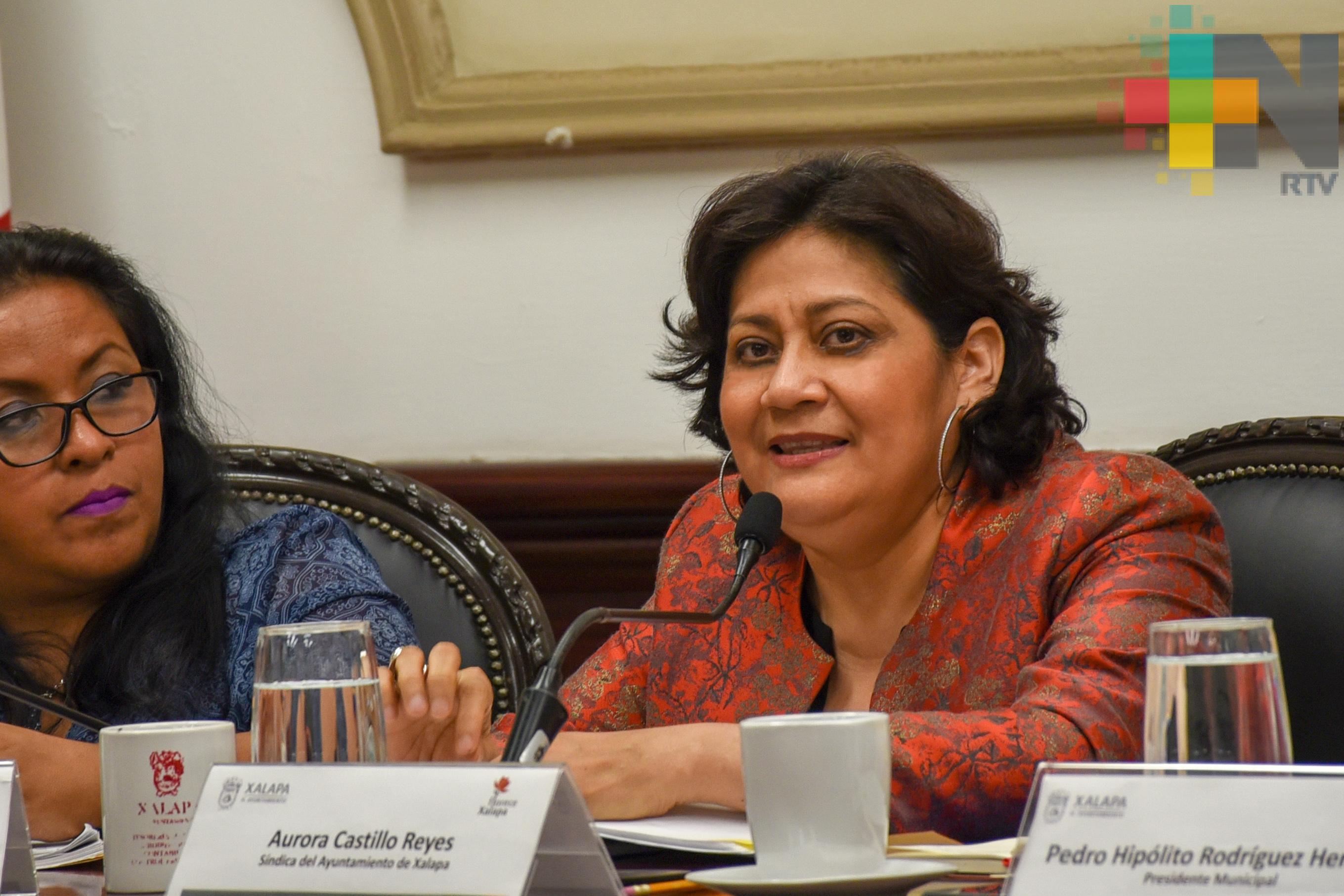 Síndica de Xalapa solicitó aprobar convenio para acceder a recursos de Fortaseg