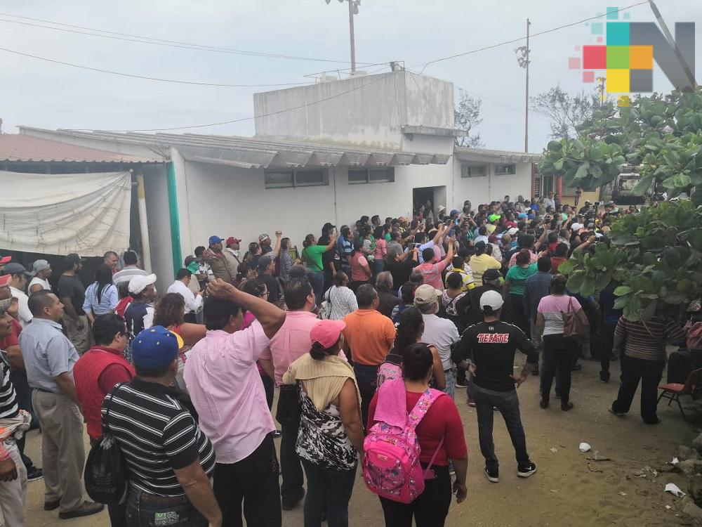 Concluyó paro de labores de empleados municipales de Coatzacoalcos