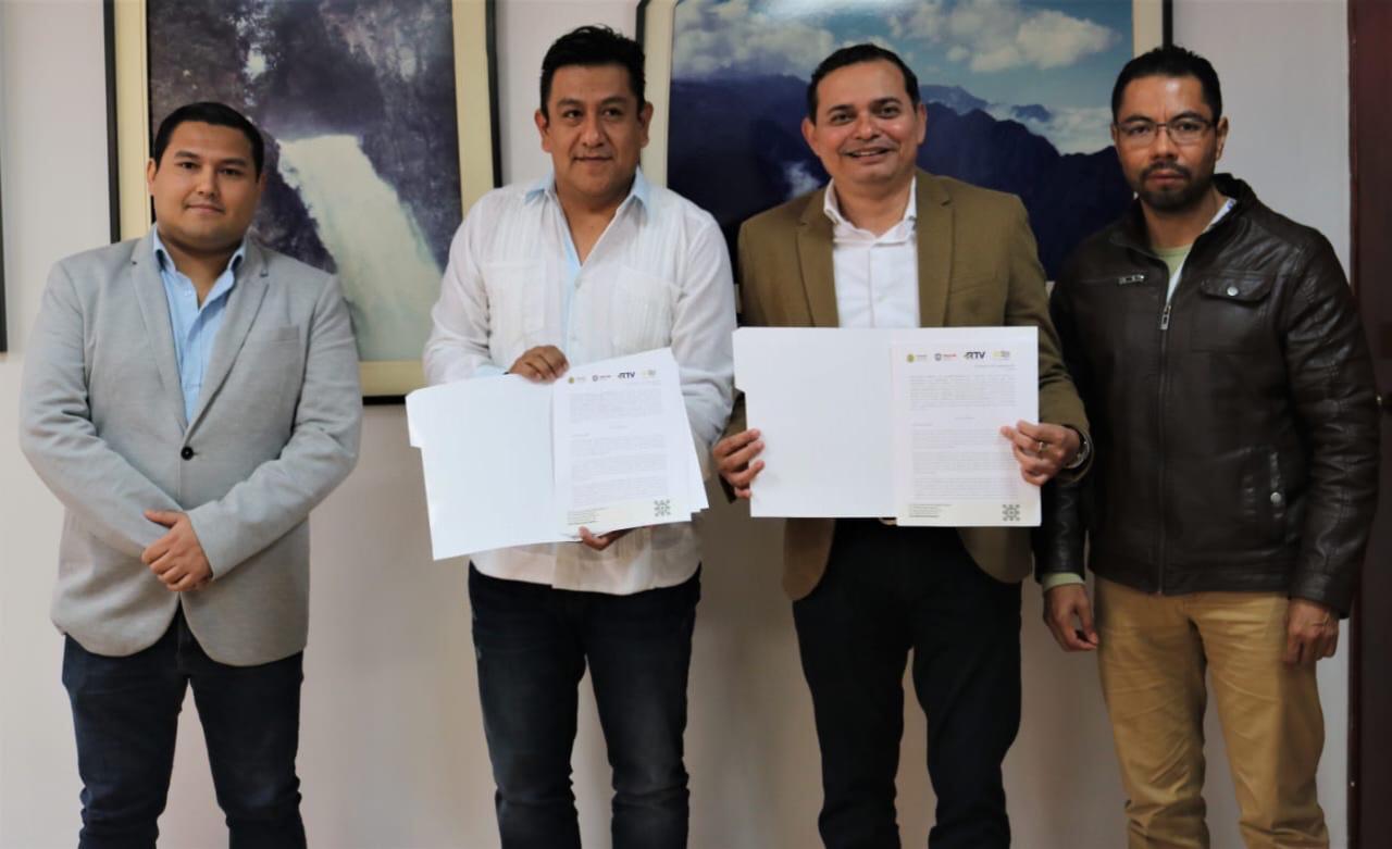 Signan convenio RTV y Editora de Gobierno: promoverán lectura y difusión del acervo bibliográfico