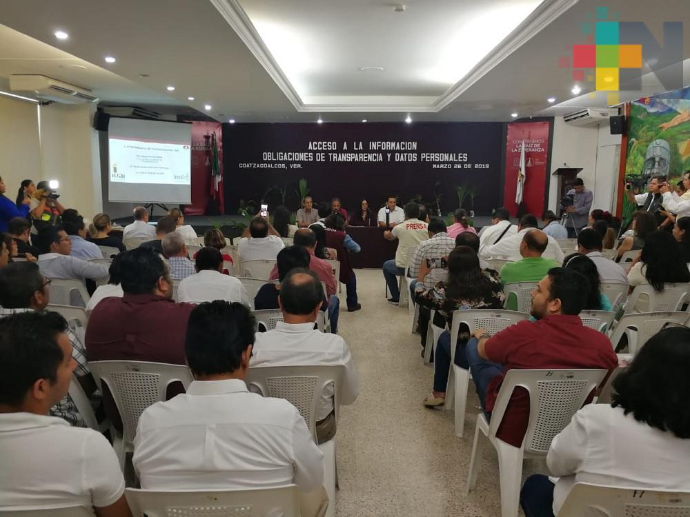 Ayuntamiento de Coatzacoalcos ha respondido el 98% de solicitudes de acceso a la información