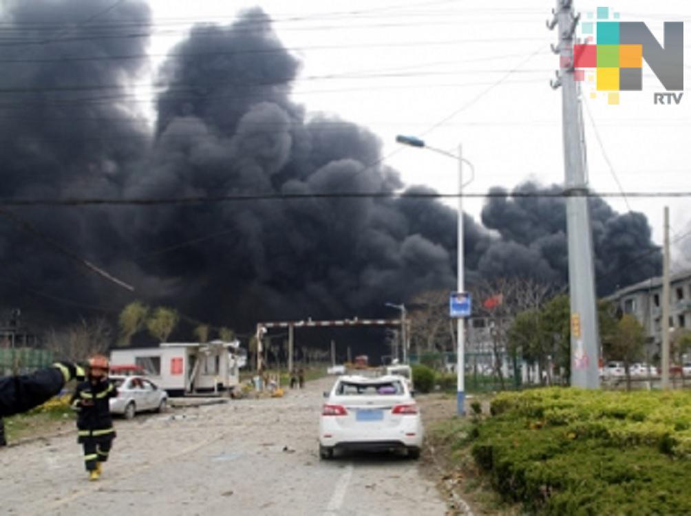 Explosión en planta china deja 47 muertos y 640 heridos