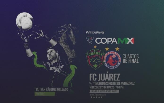 FC Juárez en semifinales de Copa MX ante Veracruz, este miércoles