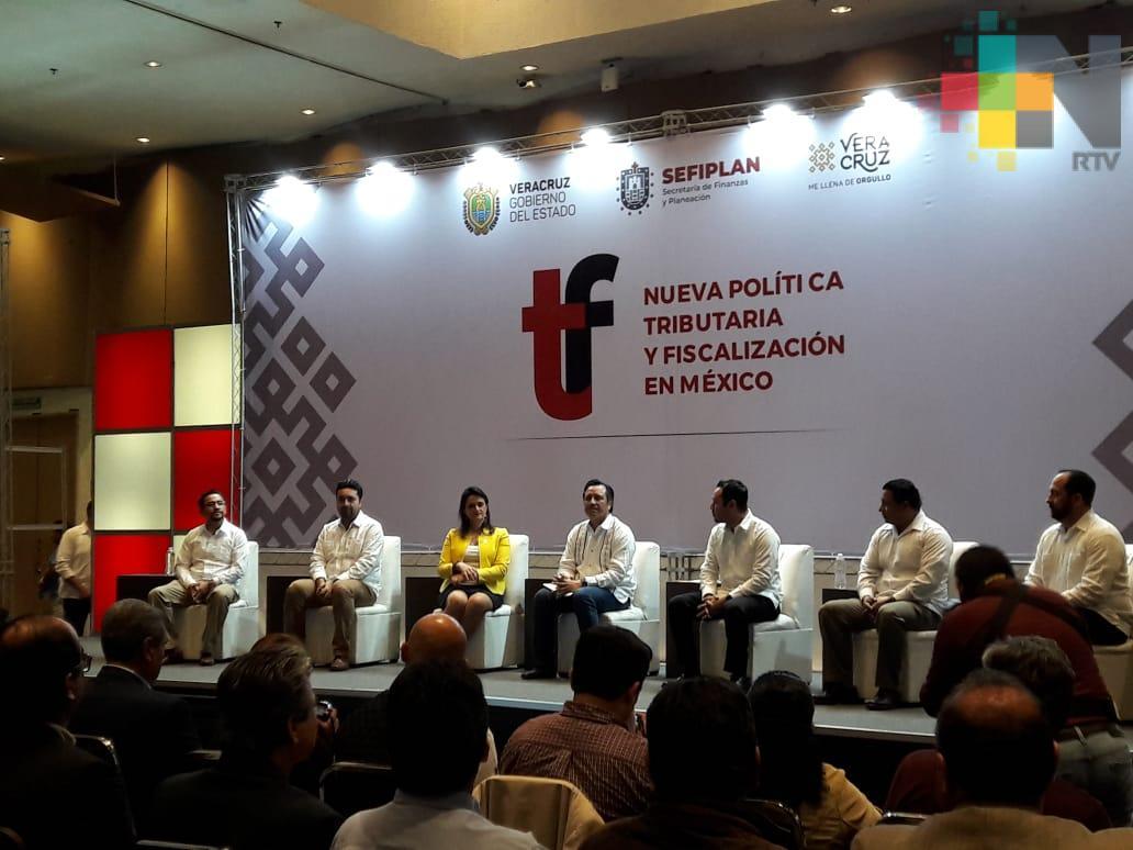 Gobierno de Veracruz y Gobierno Federal lograrán Nueva Política Tributaria y Fiscalización en México
