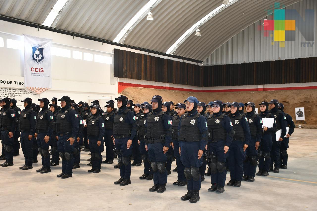 Capacita SSP a 73 policías municipales de Xalapa