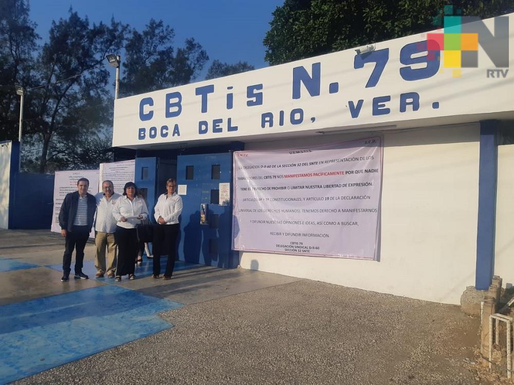 Profesores piden la destitución del director del CBTIS 79 de Boca del Río