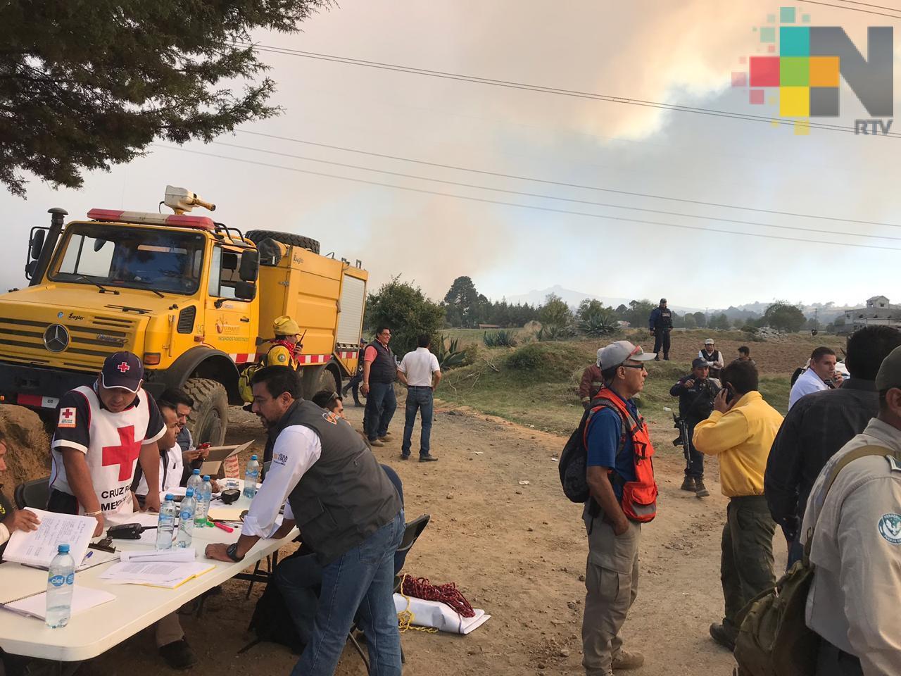 Refuerza SS vigilancia epidemiológica por incendio forestal, en Las Vigas