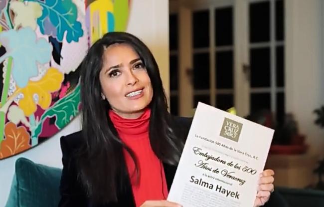 Invita Salma Hayek a festejar los 500 años de la fundación de Veracruz