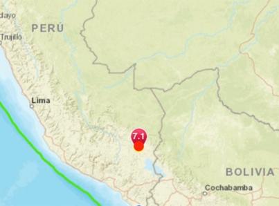 Terremoto de 7.0 sacude el sur de Perú