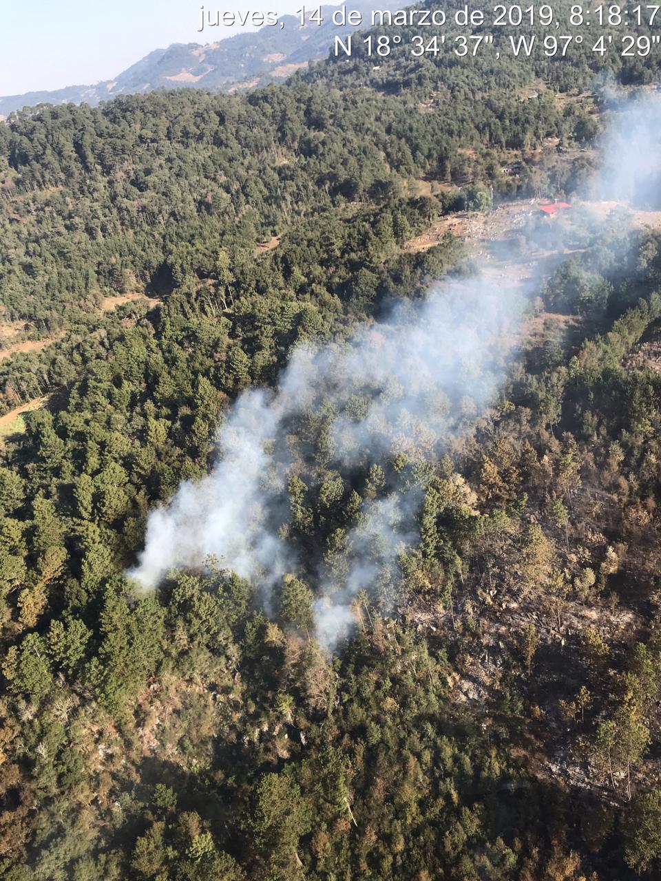 El incendio forestal en Astacinga controlado al 50 por ciento