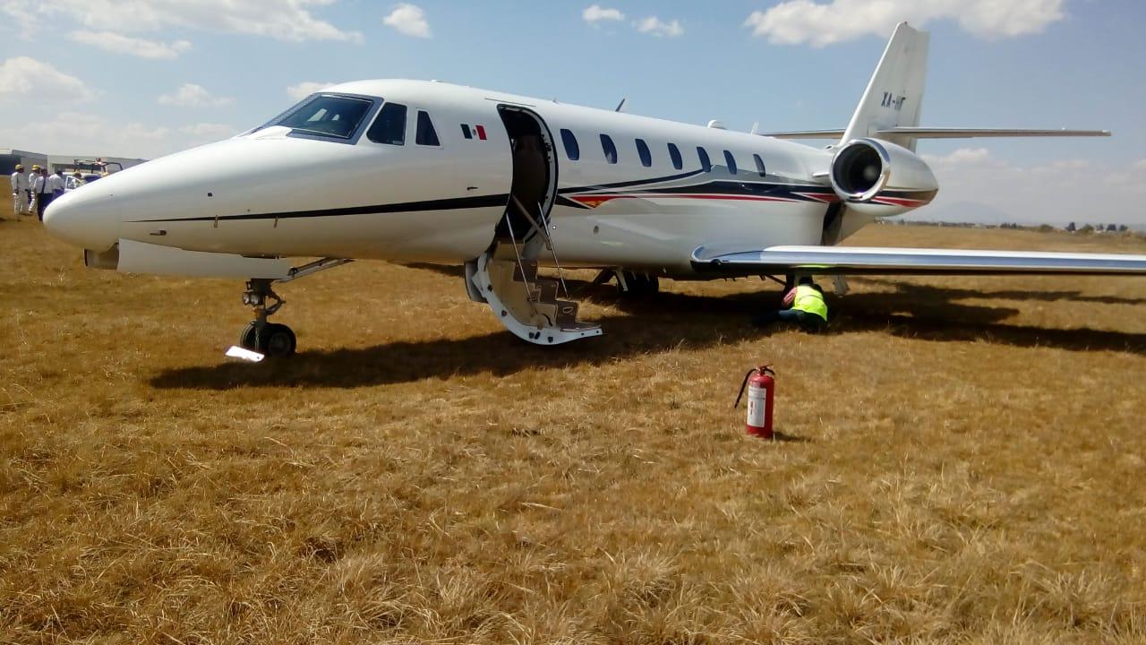 Se despista aeronave privada en el Aeropuerto Internacional de Toluca