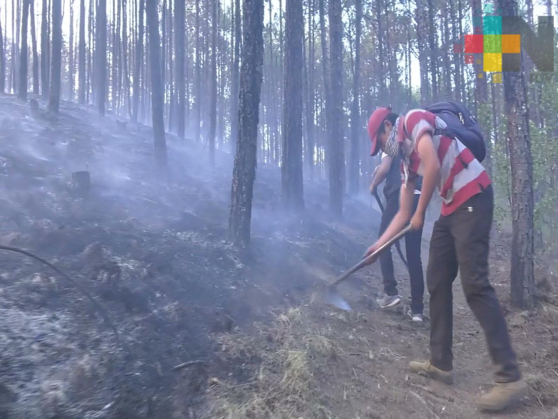 Combatientes del incendio en Las Vigas, dispuestos a enfrentar otro siniestro