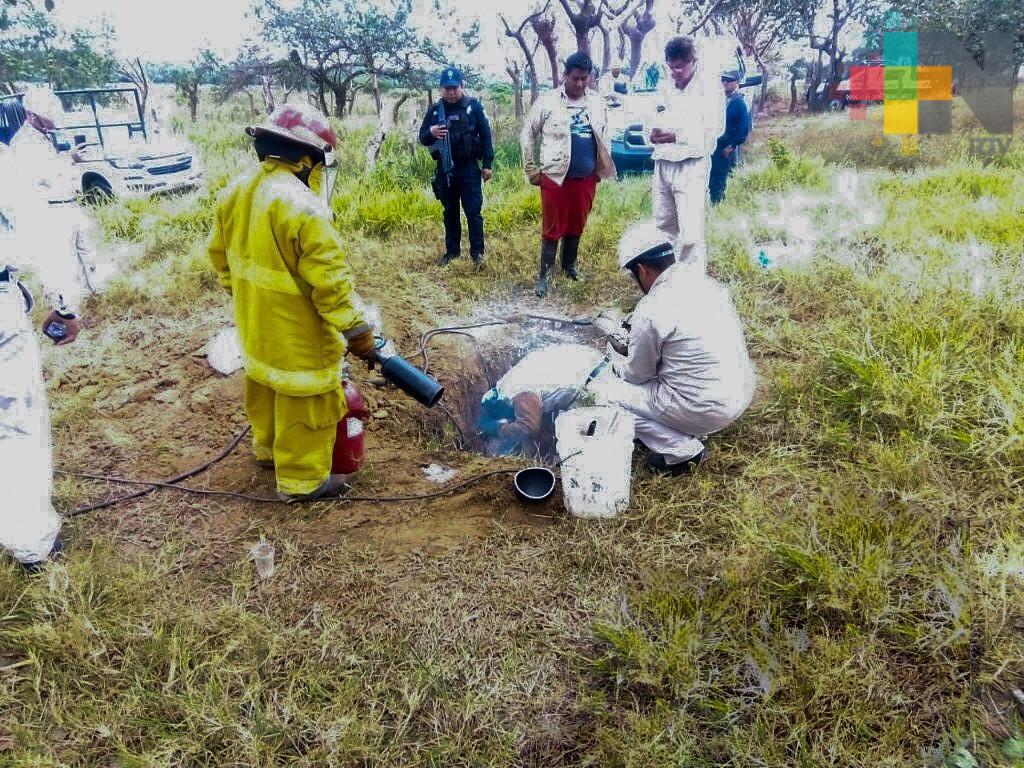 Asegura SSP toma clandestina de hidrocarburo, en Soconusco