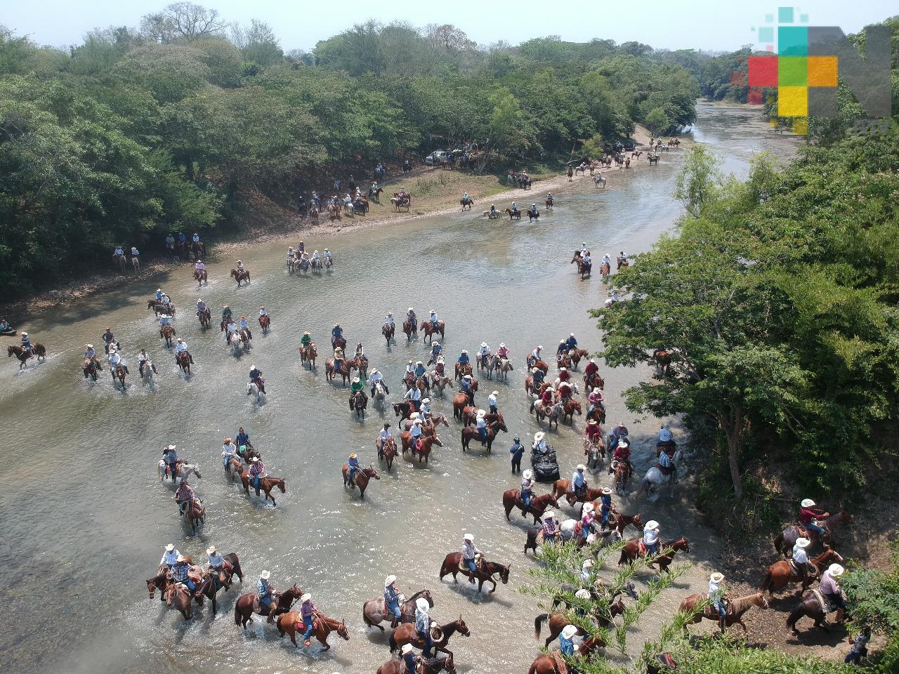 Con cabalgata celebran los 500 años de la Fundación de Tantoyuca