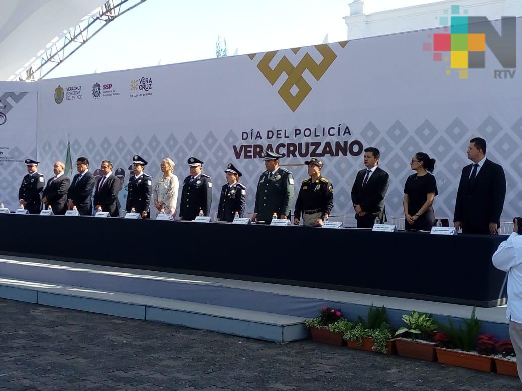 Reconocieron a 13 elementos de la SSP en el marco del Día del Policía Veracruzano