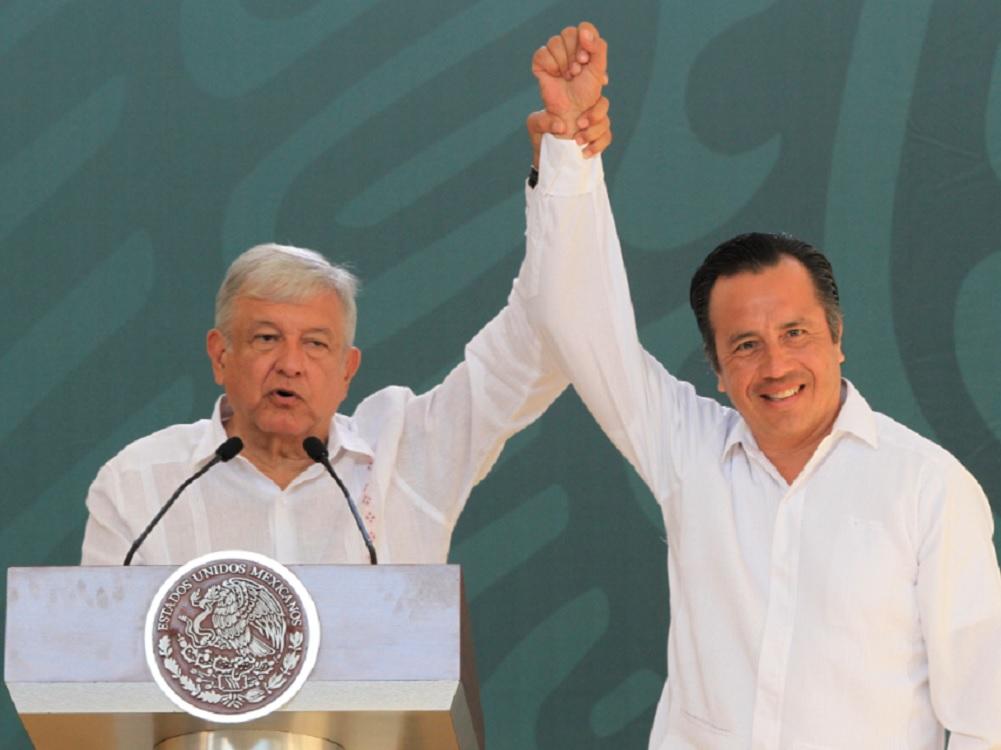 """Respaldo total del Presidente a Cuitláhuac García: """"es una gente limpia y honesta"""""""