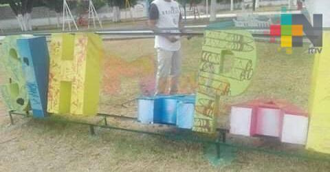 Vandalizan letras de Sihuapan