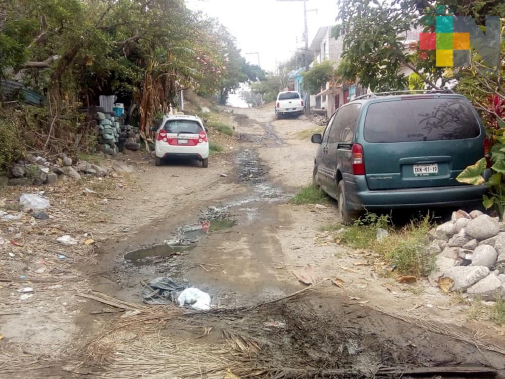 Vecinos de colonia Acosta Lagunes piden a las autoridades reparen calle