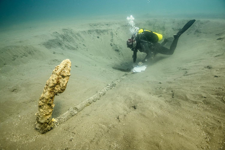 Expertos del INAH descubren ancla del siglo XV en aguas de la Villa Rica, en Veracruz