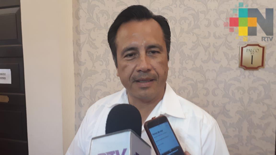 Habrá relación de respeto y trabajo conjunto con el nuevo titular de la SHCP: Gobernador de Veracruz