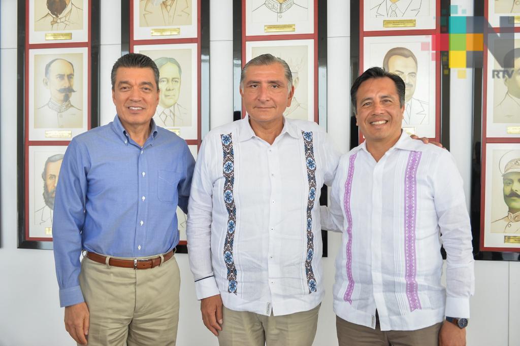Gobernadores de Veracruz,Tabasco y Chiapas se reúnen para reforzar estrategias de seguridad