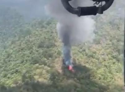 Encuentran sexto cuerpo de tripulante de helicóptero accidentado