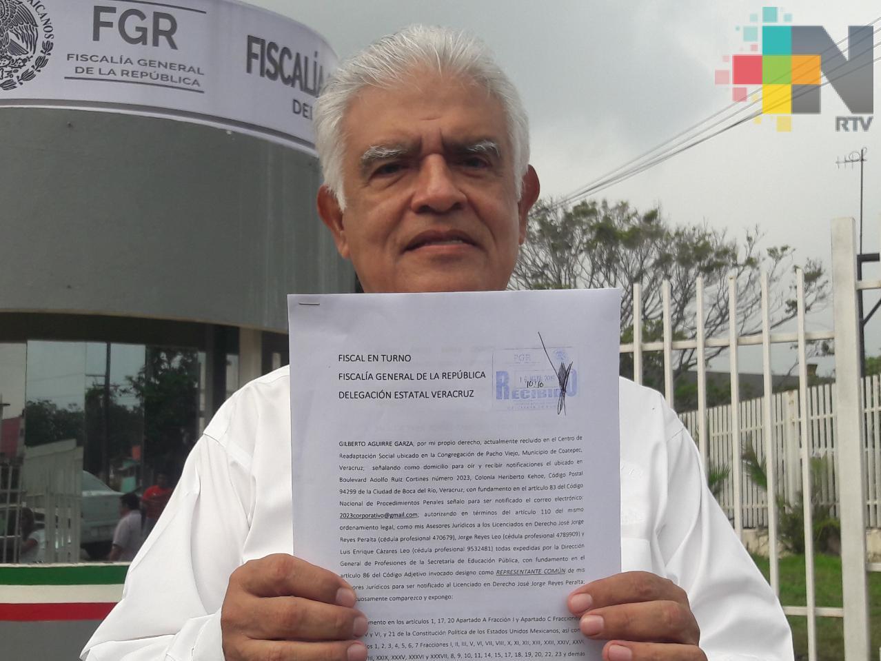Jorge Reyes Peralta denunció ante la FGR a Yunes Linares, Winckler y otros