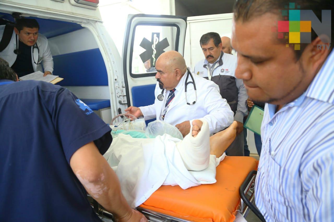 Trasladan a Xalapa a uno de los jóvenes heridos en Acultzingo