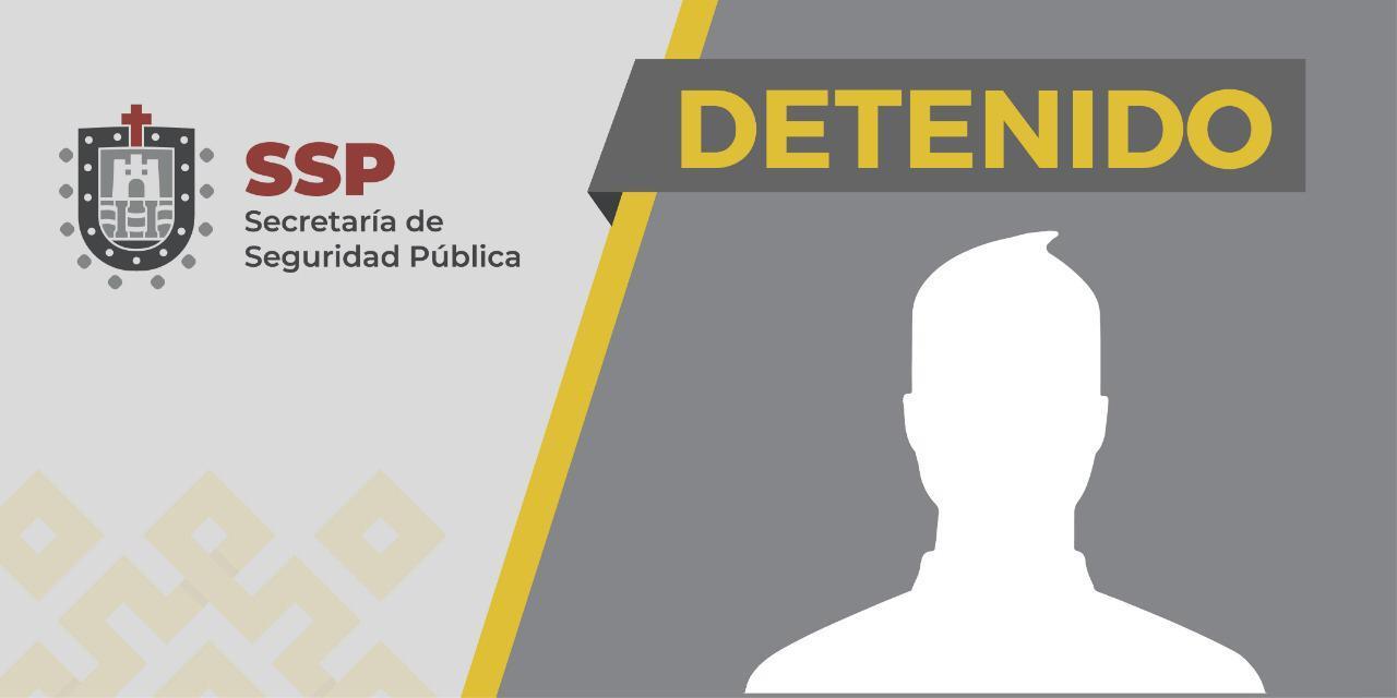 Aprehende SSP a presunto asaltante y asegura vehículo robado