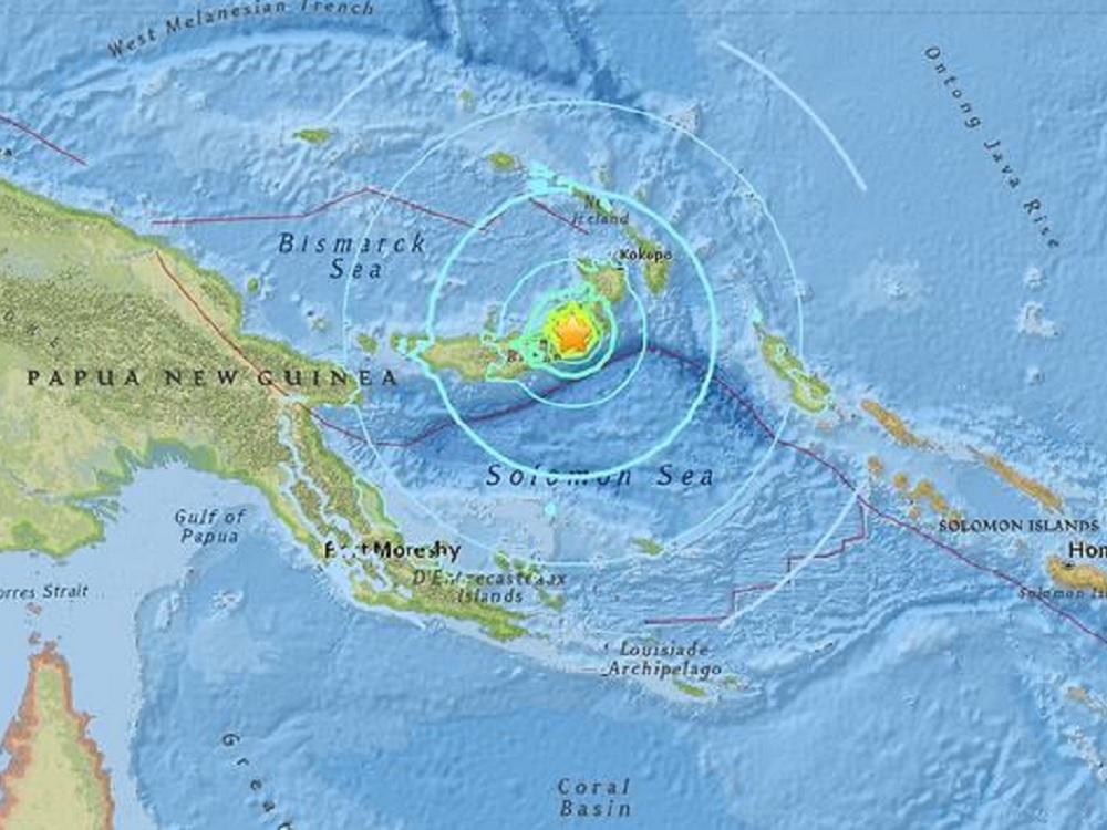 Terremoto de 7.5 grados golpea Papúa Nueva Guinea