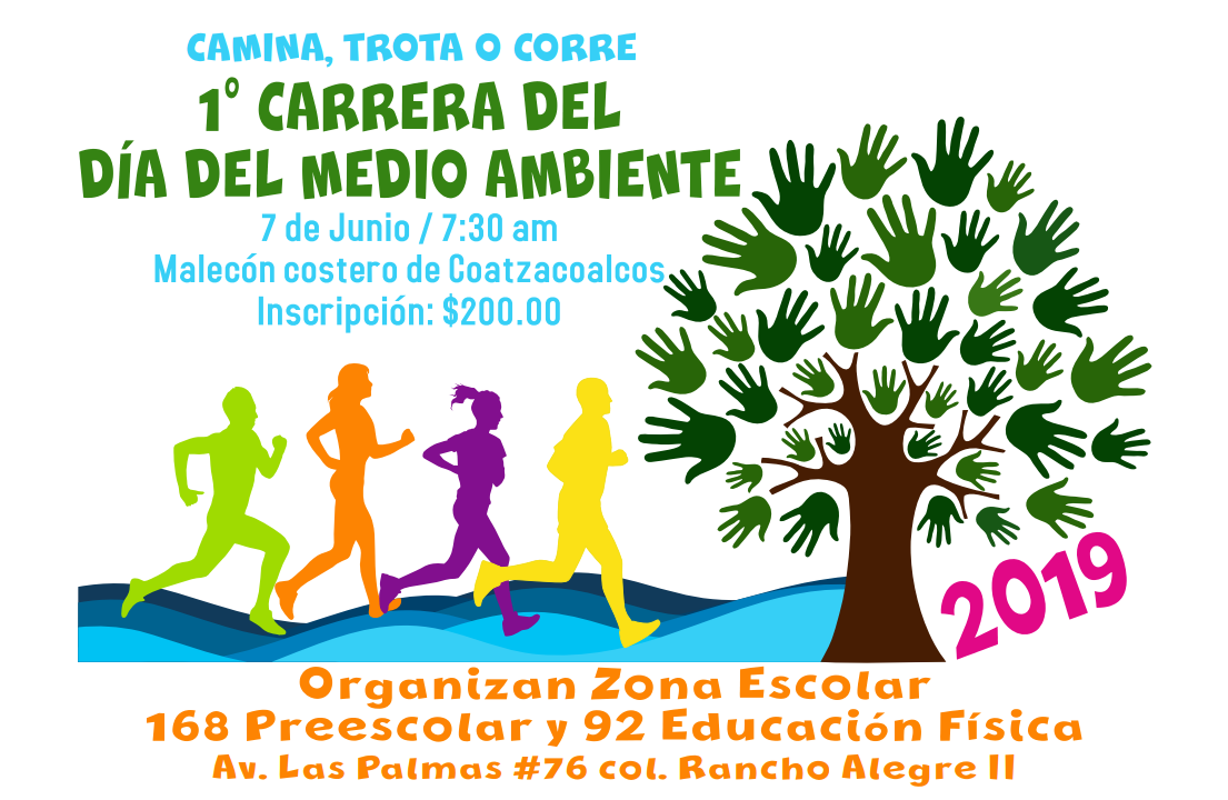 Convocan a Carrera Día del Medio Ambiente en Coatzacoalcos