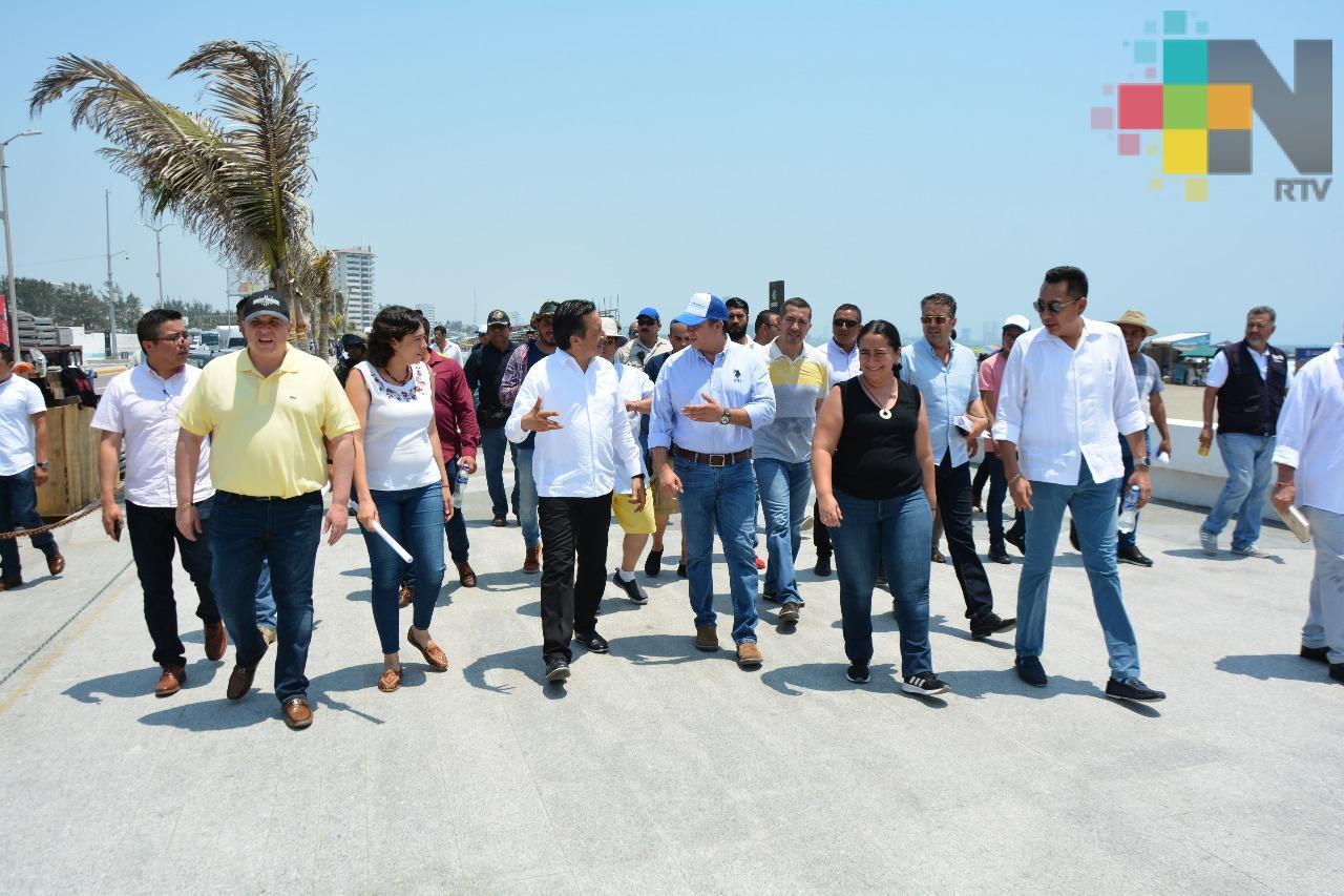Supervisa gobernador Cuitláhuac García instalación de gradas para el Salsa Fest 2019