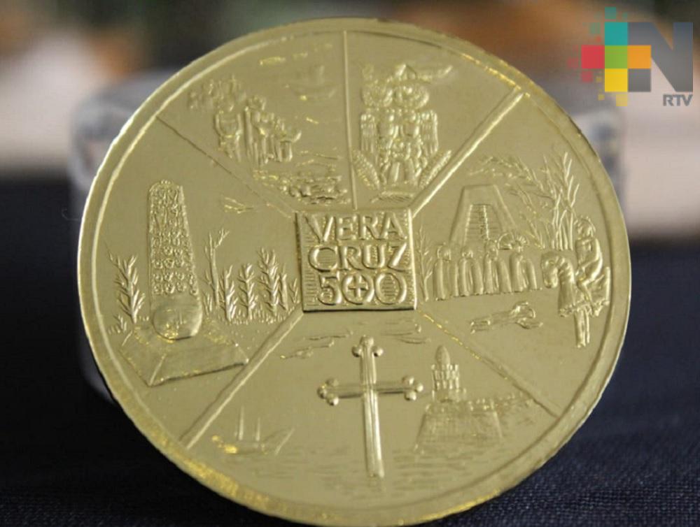 Medallas conmemorativas de los 500 Años de la fundación de la Villa Rica de la Vera Cruz