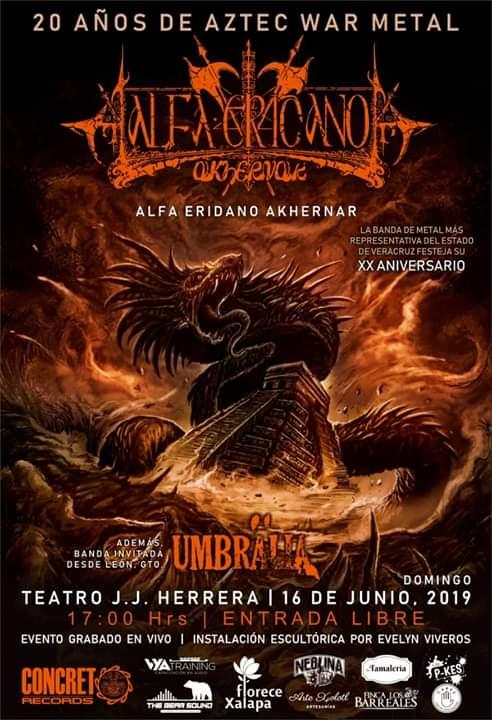 La banda xalapeña Alfa Eridano Akhernar celebrará su XX aniversario en el Teatro J.J. Herrera