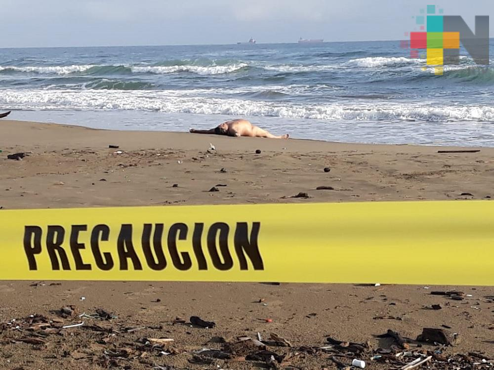 Aparece hombre muerto en playas de Coatzacoalcos