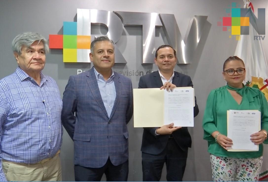Signan convenio Radiotelevisión de Veracruz y el Instituto de Pensiones del Estado