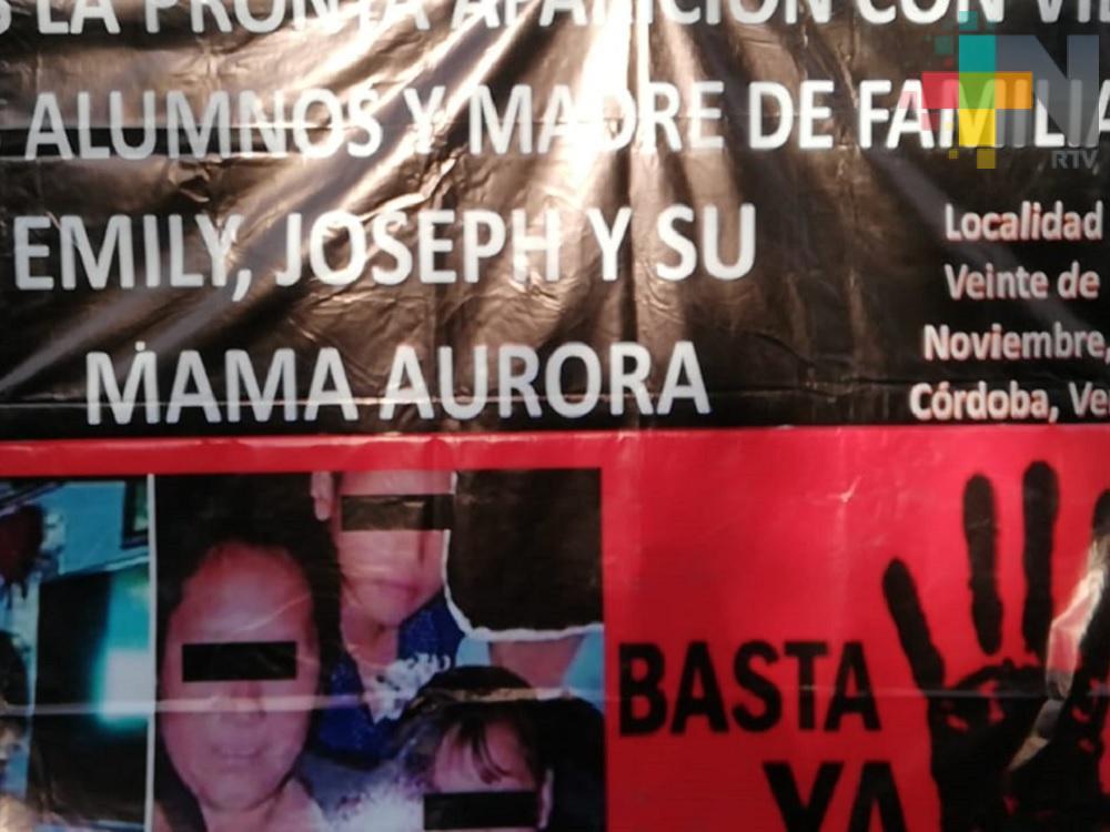 Cordobeses piden que aparezcan con vida madre y sus hijos secuestrados el pasado martes