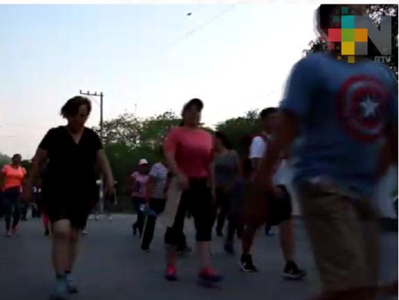 Realizan primera actividad física masiva en Tantoyuca
