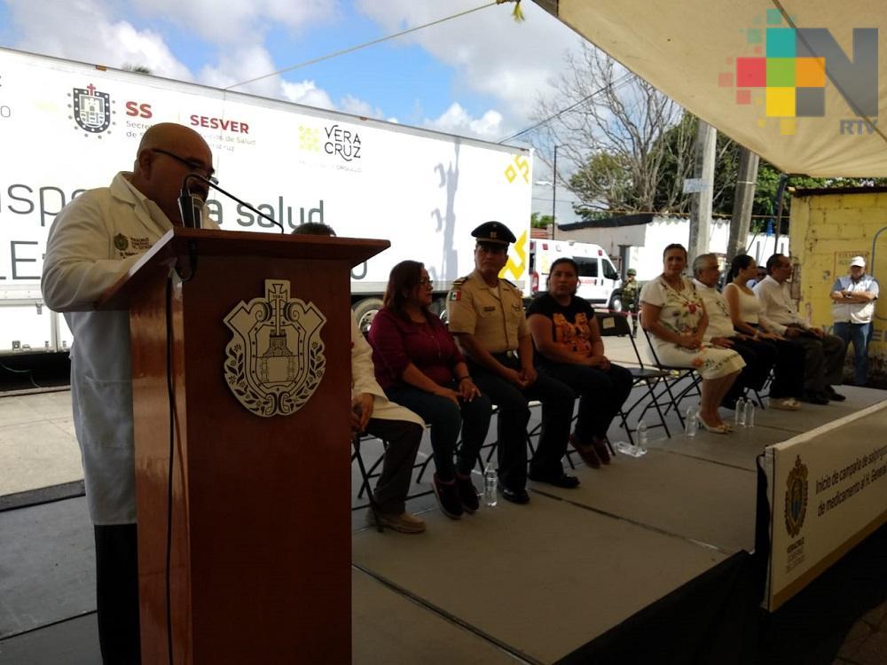 Secretario de Salud realiza entrega de medicamentos para  el Hospital Regional deMinatitlán
